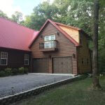 red roof log cabin 01 150x150 - Custom Log Cabin Home