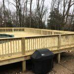 wooden pool deck 01 150x150 - Custom Pool Deck