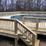 wooden pool deck 02 150x150 - Custom Pool Deck