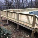 wooden pool deck 03 150x150 - Custom Pool Deck