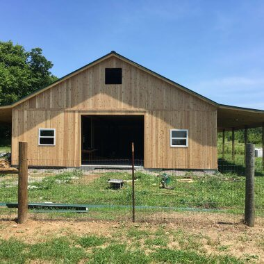 Morris Brothers Construction Horse Barn 1 380x380 - Barn